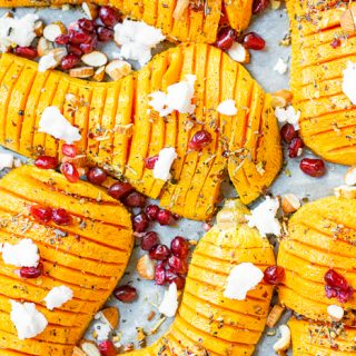 Roasted Hasselback Butternut Squash