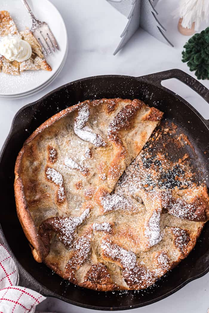 Gingerbread Dutch Baby Pancakes