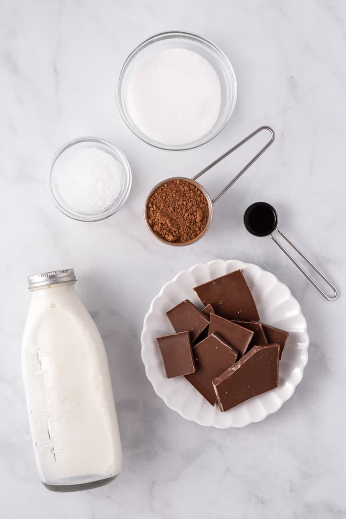 homemade hot chocolate ingredients