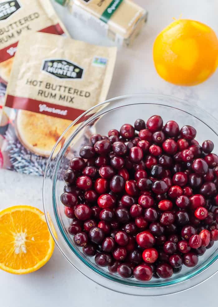 Hot-Buttered Rum Cranberry Sauce