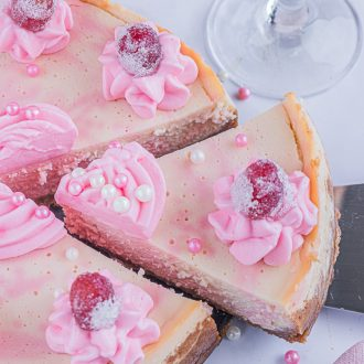 Pink Champagne Cheesecake