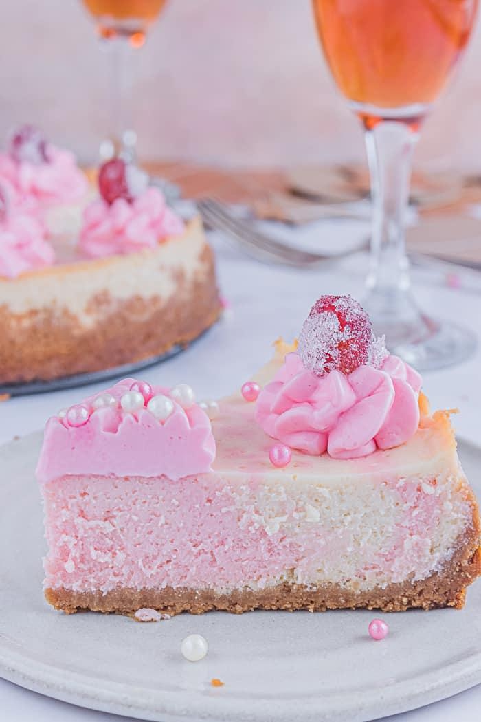 Pink Champagne Cheesecake