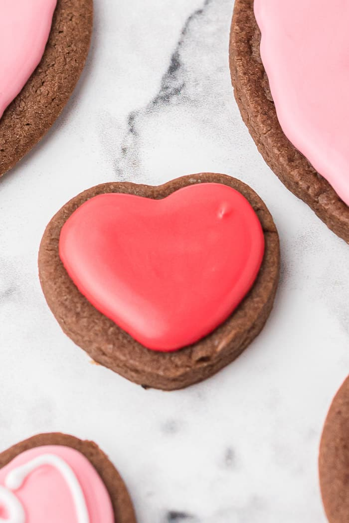Easy Valentine's Day Chocolate Heart Cookies
