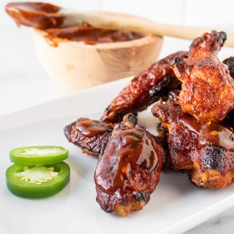 Crispy Oven Baked Barbecue Chicken Wings