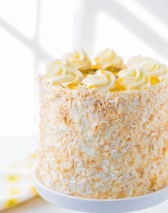 Passionfruit Coconut Layer Cake