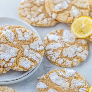 Meyer Lemon Crinkle Cookies