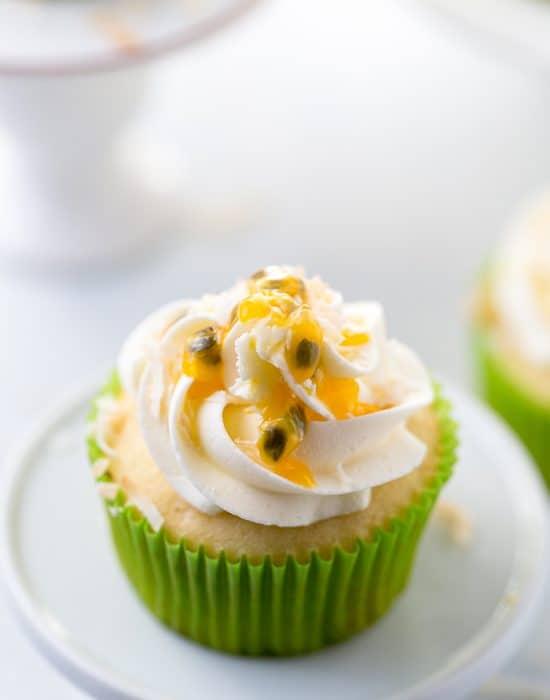 Passionfruit Coconut Cupcakes