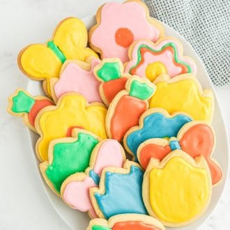 Spring Decorated Cookies with Royal Icing