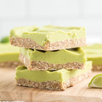 Skinny Vegan Key Lime Pie Bars