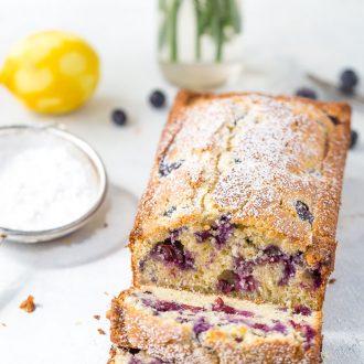 Brown Butter Blueberry Lemon Cake