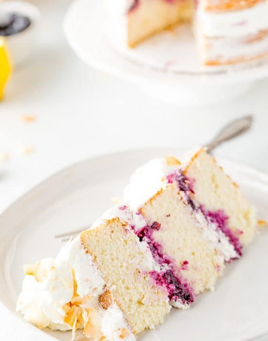 Coconut Blueberry Layer Cake