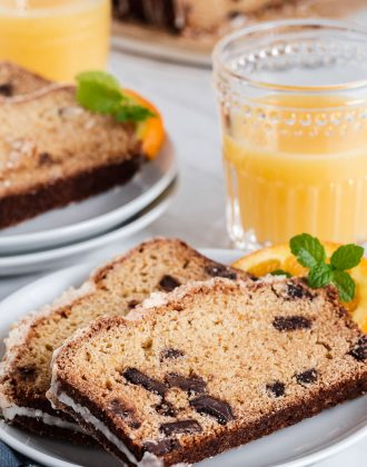 Orange Coffee Cake with Chocolate Chunks