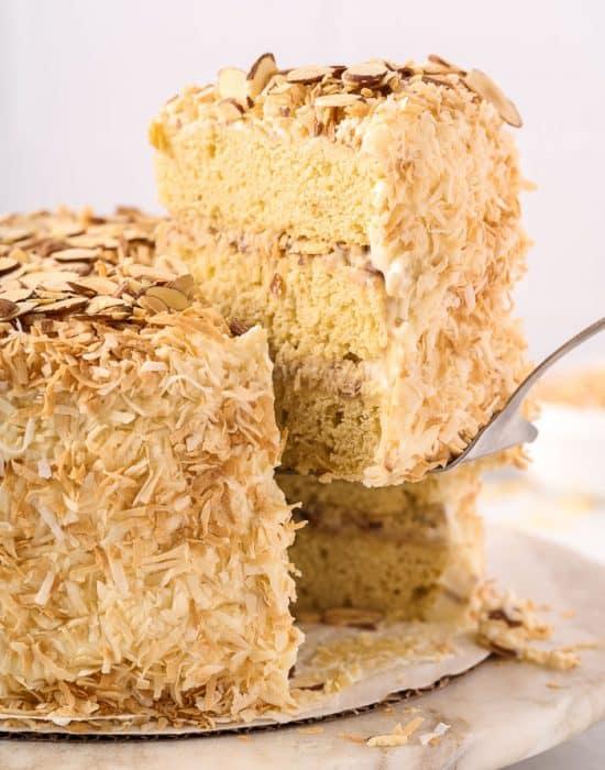 Coconut Almond Cream Cake