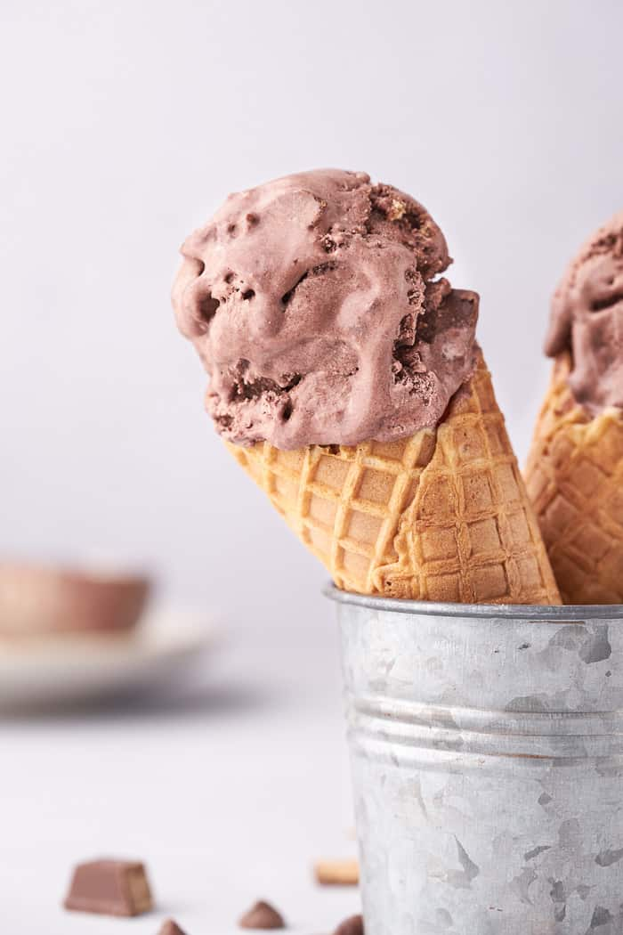 no churn chocolate kit kat ice cream