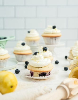 Coconut Blueberry Cupcakes