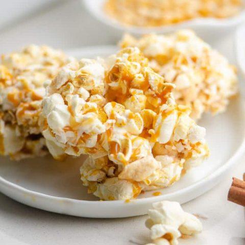 Caramel Apple Popcorn Bars