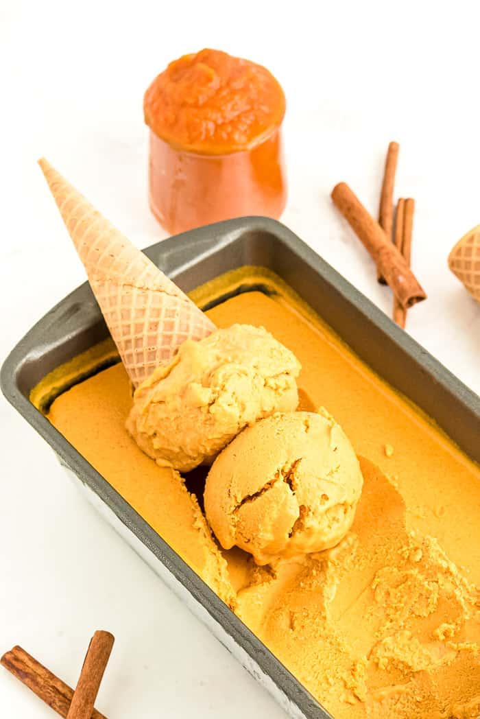Pumpkin Spice Cheesecake Ice Cream