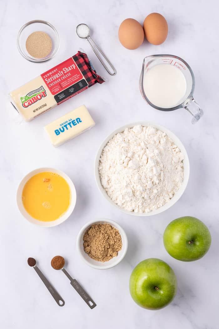 Apple Cheddar Twist Bread