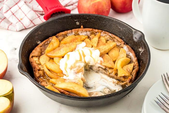 Caramel Apple Dutch Baby Pancakes